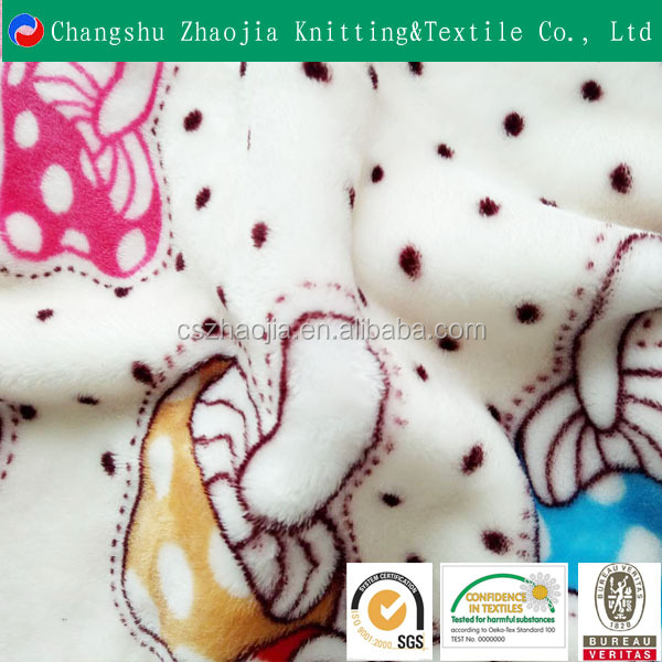 Hot sale new product High Quality China Textile super soft Flannel Fleece pajamas Fabric for blanket