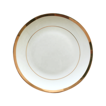 Wholesale gold rim bone china dinnerware set white dinner <strong>plate</strong>