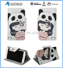 cartoon 360 degree Rotating Stand Leather Protective Case for 3.5-6.3 inch Tablet PC