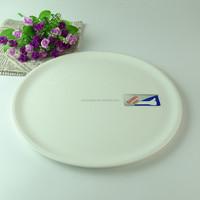 Wholesale cheap round flat white ceramic porcelain plate stock