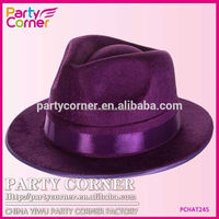 Roaring 20's Gangster Fedora Hat Purple With Band
