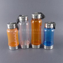 Clear plastic drinking water bottle with customized any color