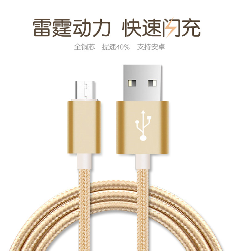 Wholesale Alibaba For iPhone 7 7 Plus Usb Cable Charger, de Nylon Trenzado Cable Micro Data Cable For iPhone Samsung Android Mob