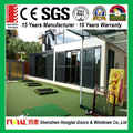 Marine grade PVDF treatment aluminum frame three track sliding doors