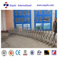 galvanized tubular stainless steel retractable fence (Zoyals ISO Factory)