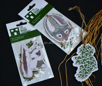 New cute style paper air freshener for car with Hemp rope