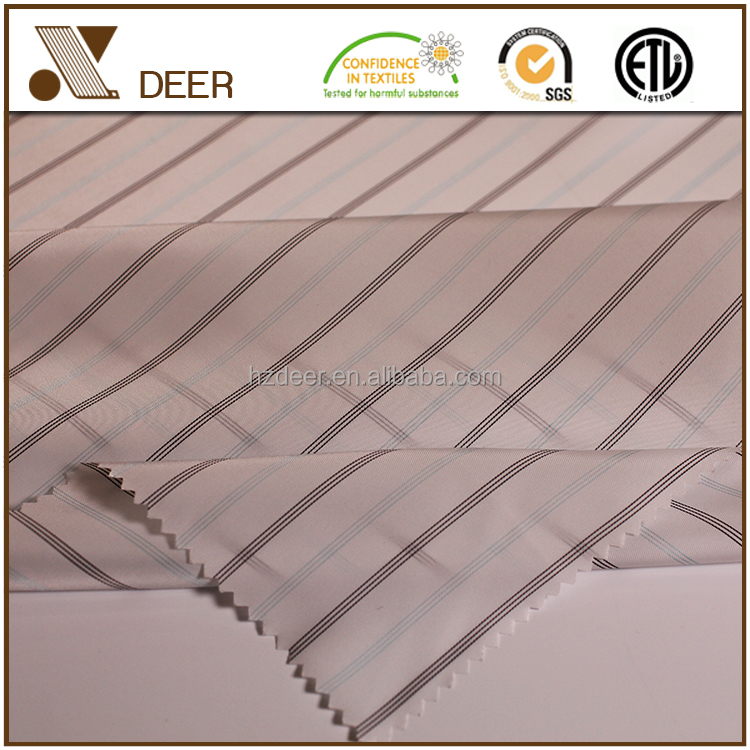 Wholesale Pure Polyester Lining Stripe Fabric