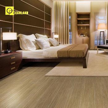 China Comfortable Bedroom Ceramic Floor Tiles Wood Pattern