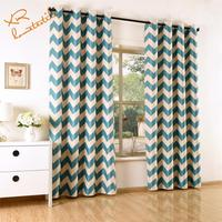Factory ready made print blackout curtain eyelet with office home hotel curtain