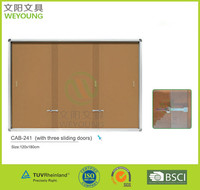 High Quality Lockable Sliding Door Bulltin Board for University