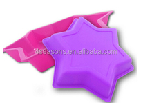 Wholesale high quality food grade cute design silicone six star cake mold with factory price