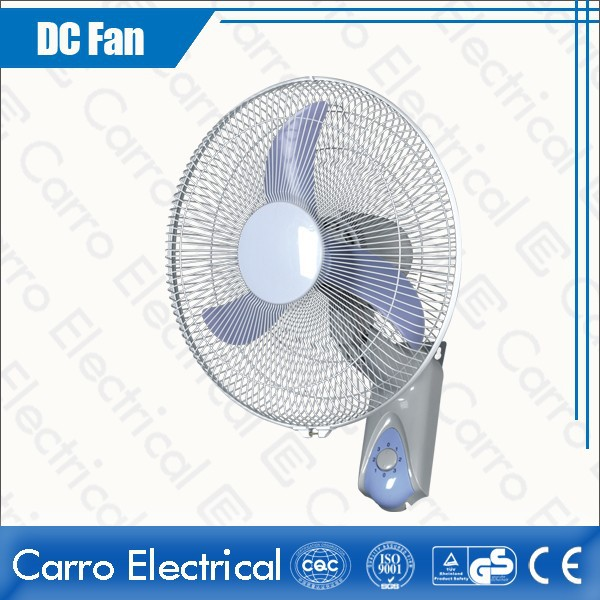 hot sale 16 inch 12v solar dc decorative wall mount fans