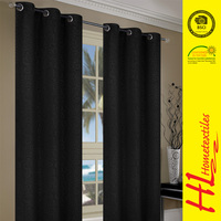 NBHS BSCI certification sunscreen fabric black curtain