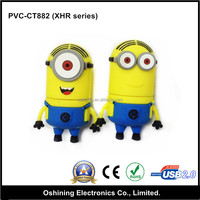 Hot Selling Cartoon Shape USB Drive / Minions Character Rubber Custom USB flash drive,pendrive,usb stick 2gb, 4gb, 8gb, 16gb