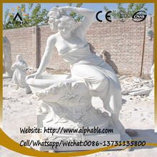 Hot Sale White Marble Carved Lady Statues