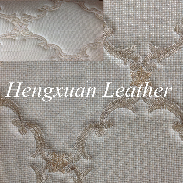 Embroidered Fancy Leather Stock For Wall Art Decor/Headboard ---MX18-9928