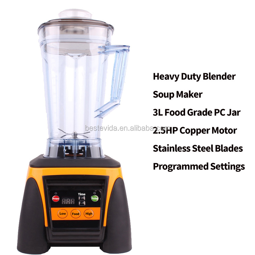 Commercial orange juicer machine frozen fruit blender