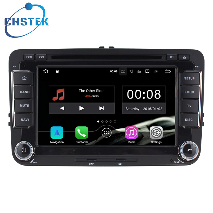 Android 7.1 Car DVD Player For Car GPS Navigation Volkswagen