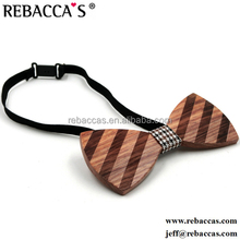 Rebacca's wedding solid wood bow tie 3D pure hand made butterfly wood bow tie