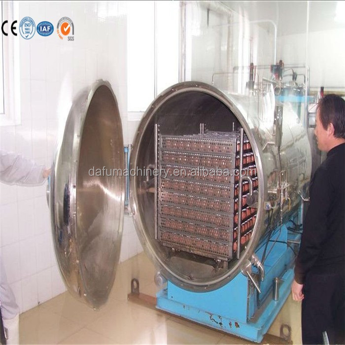 Water spray autoclave for bottled/canned food sterilization