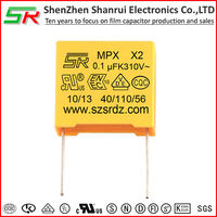 Safety Capacitor X2 275V 0.1uF 100nF 104K Pitch 10mm