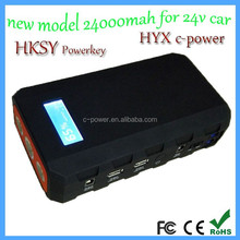 Car Emergency Tool Kit 24V 24000mah Portable Multi-Function Jump Starer For Gasoline and Diesel Car