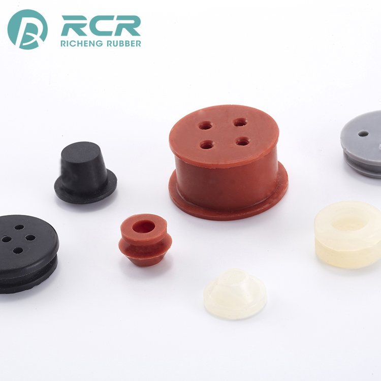 high quality Customized size stopper vectors / durometer of silicone rubber plugs for Electronic equipment
