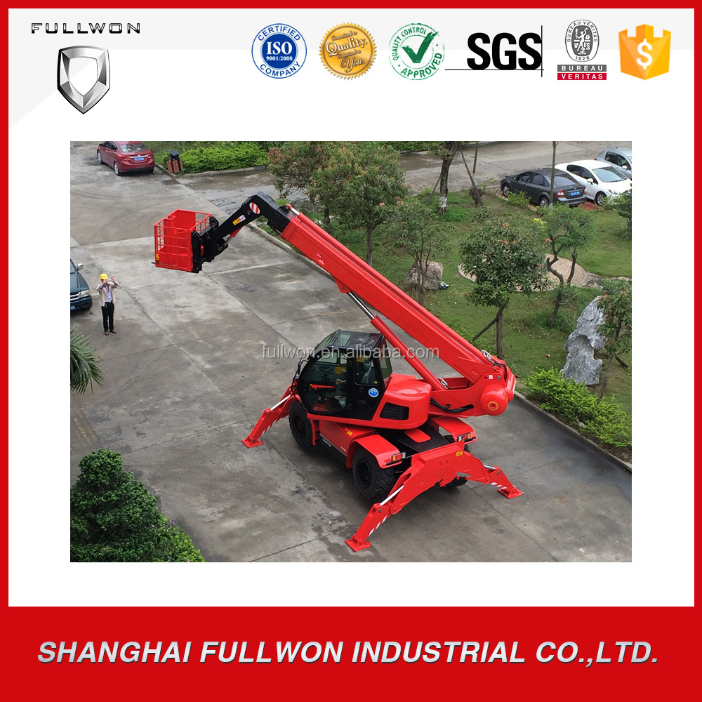 Seenwon China Factory 15m lifting height 4ton Rotate telehandler