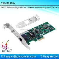 Gigabit Intel 82574/9301CT RJ45 PCI Express Network Adapter Functions