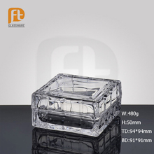 High Quality Clear Crystal Jewelry Box Glass Jewel Trinket Box with Lid