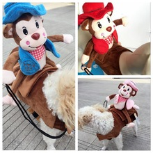 2017 New Arrival Pet Costume Cool Halloween Funny Rider Coat Dog Clothes For Pet Monkeys