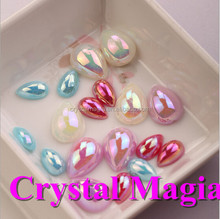 sparkly plastic pearl beads,flat back pearls for phone decoration