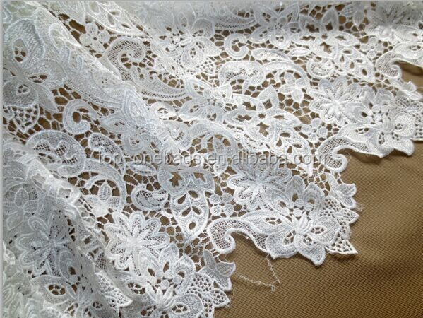 2014 pure white guipure lace swiss voile lace /cupion lace fabric/high quality african lace fabric