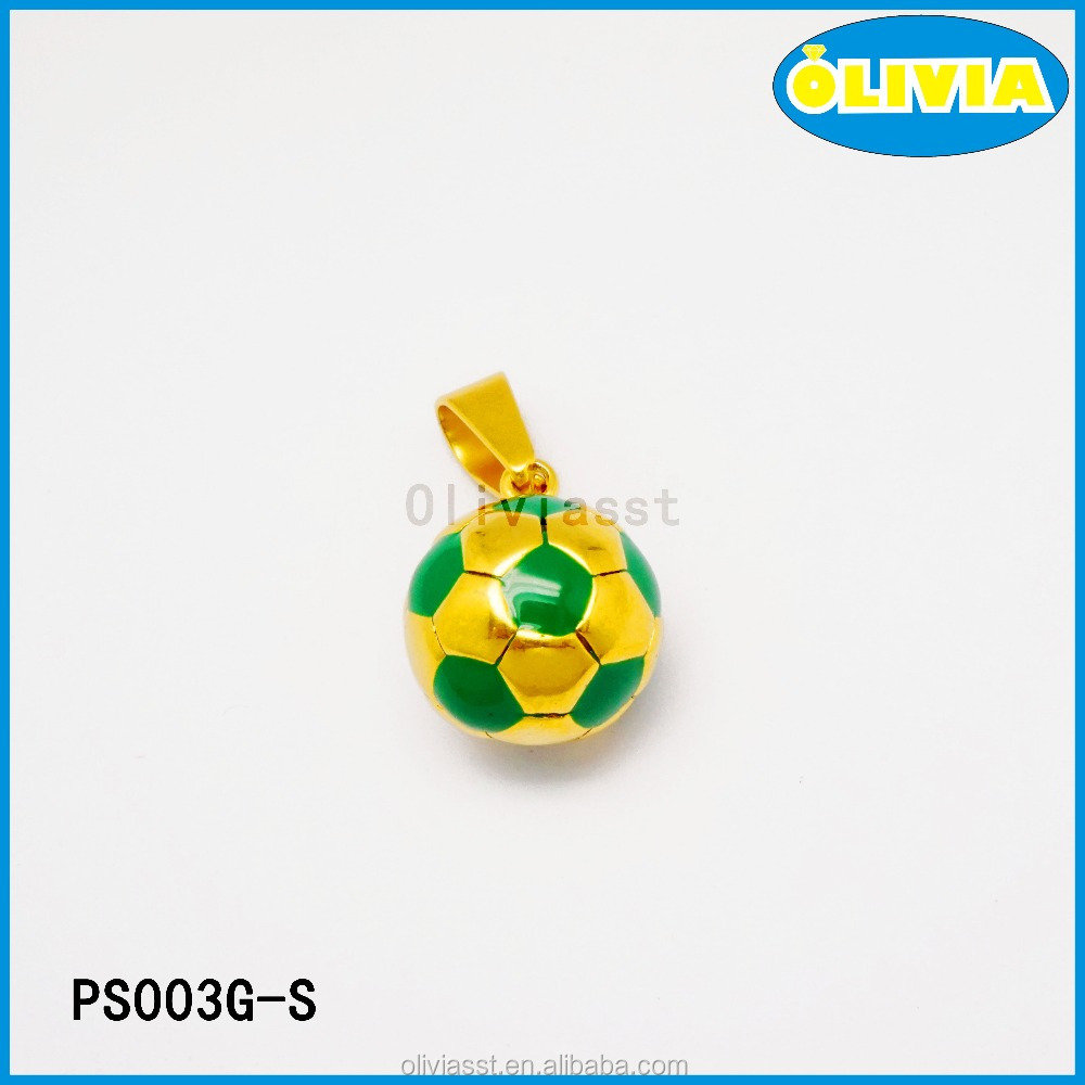 online shop China stainless steel jewelry football design pendant