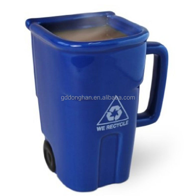 china products 3d trash can grade A ceramic stoneware mug