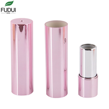 FUDUI factory round metallization colours push type high-class silvering hot sale clear sparkly glitter now empty lipstick tube