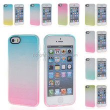 Hotsell Gradient color TPU Silicone Gel Back Case For iPhone 6 4.7 5 5S 5C 4 4S
