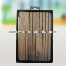 For ipad 2 Magnetic hard wooden case/cover with waking up and sleep function