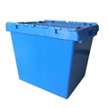 750*570*625mm 172L stackable hinged lid plastic storage tote boxes
