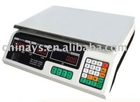 YS-208 LED Red Light Price Computing Scale 40kg/5g,High Quality Strong Body,480g Heavy Duty Plate