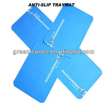 airline logo print two sides coated anti-slip paper tray liner