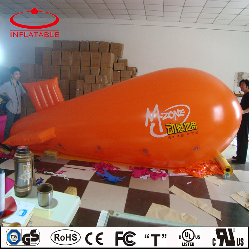 advertising inflatable flying airplane balloon, inflatable helium floating blimp balloon