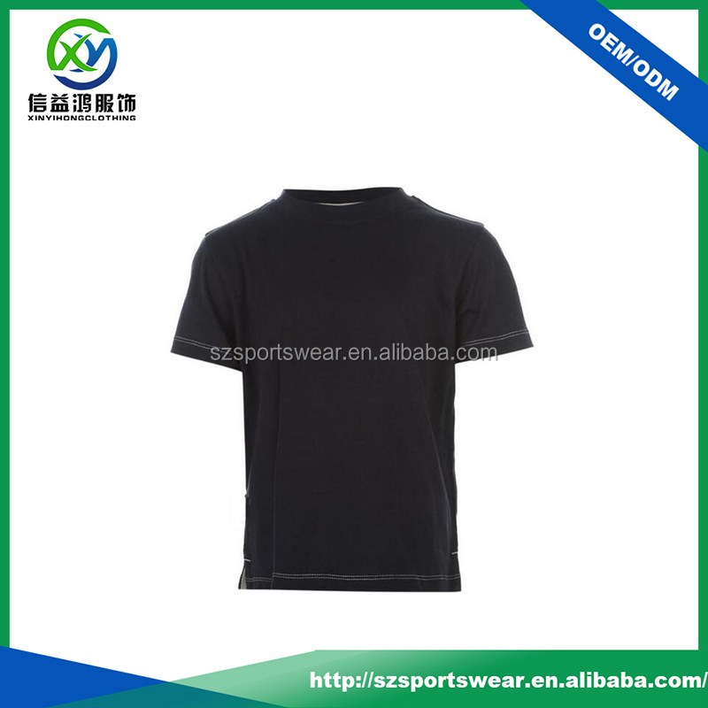 Classical design black color kids plain t shirts wholesale China