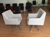 Rotating Beige Office Swivel Lounge Chair for Sale Used (FOHJ-0012)