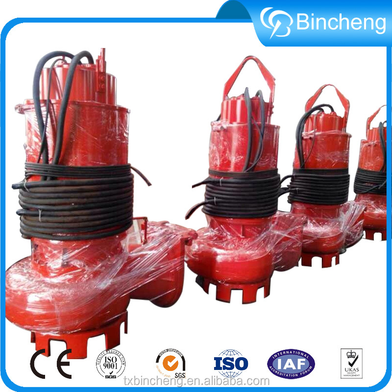 Submersible sewage high flow rate centrifugal water pump