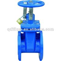 Rubber seat position indicator gate valve