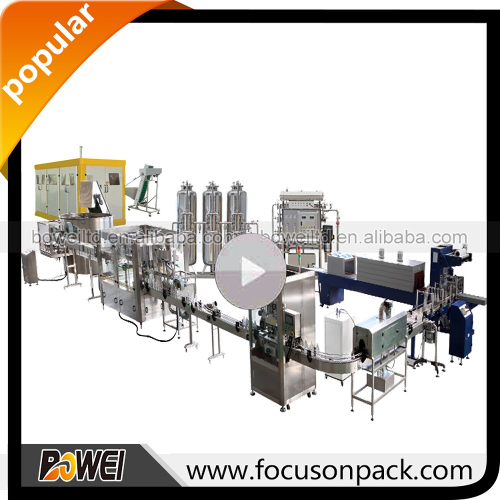 Yogurt Filling Sealing Machine Small Pet Bottled Mineral Water Production Line Water Bottling Plant/Mineral Water Production Lin