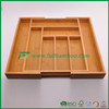 FB5-1071 Kitchen expandable bamboo drawer cutlery tray,utensils box