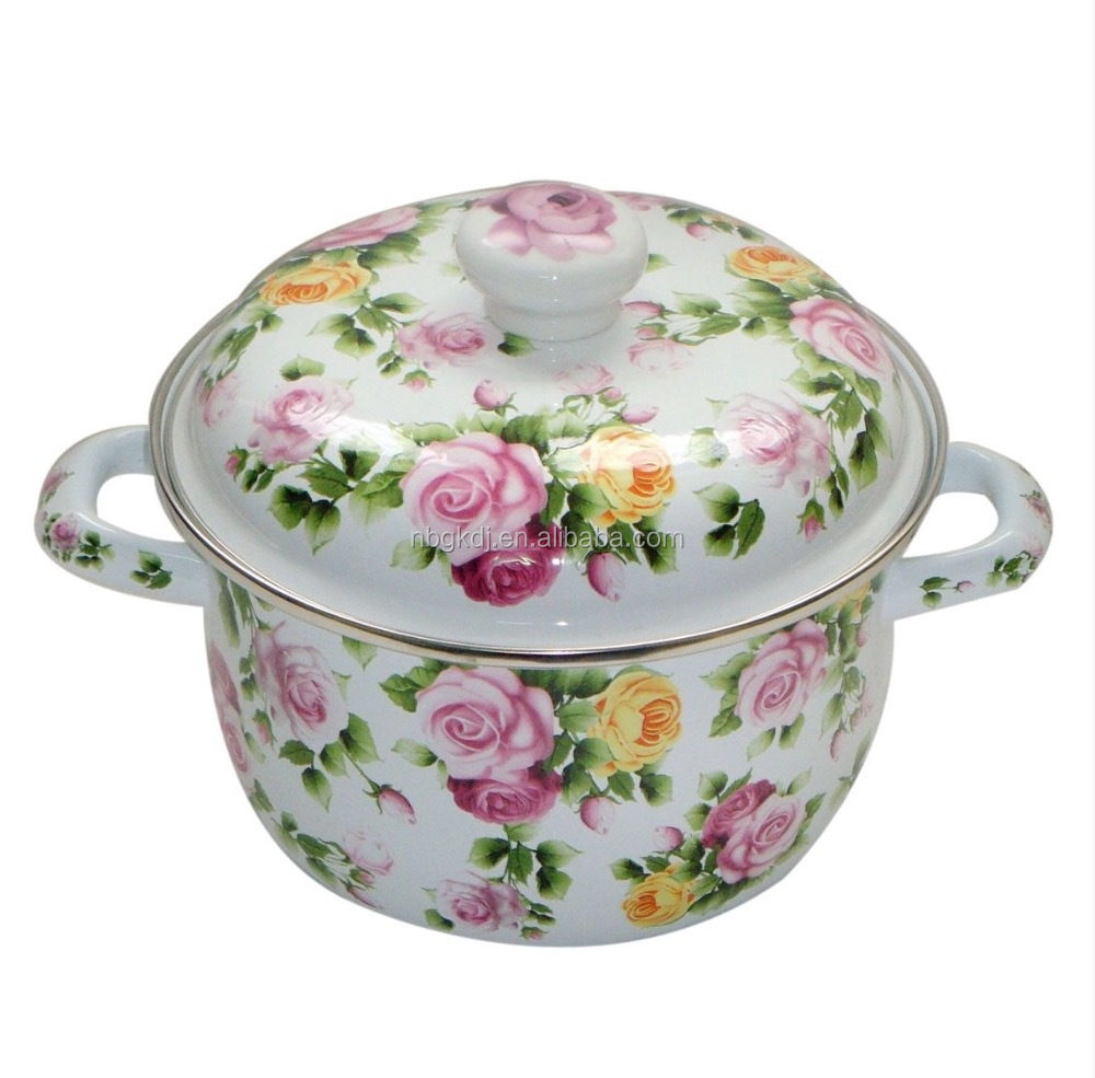 parini enamel cookware casserole with double handle