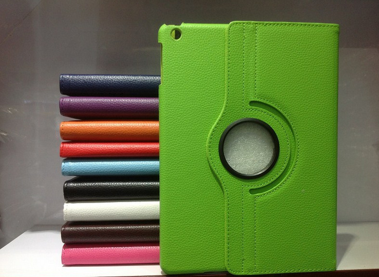 360 rotating styles colorful leather case for ipad mini